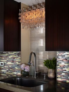 Upper East Side New York City Apartment sink and light fixture