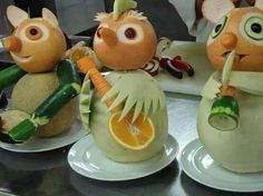 Superbe... Music group Band members created from Fresh fruit... Food art