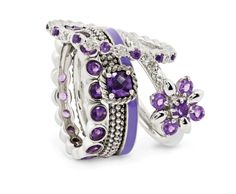 Stackable Expressions violet ring stack