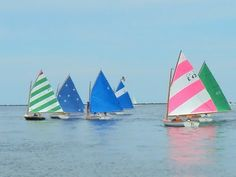 My first sail boat!  Love the colored sails!