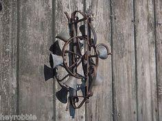 Victorian Antique Mechanical 'Ring of Bells' Front Door Bell Call Wheel