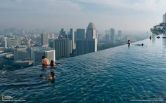 Marina Bay Sands Hotel in Singapore - Infinity Pool - Hotel Tower 1, level 57.