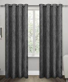 Exclusive Home Charcoal Twig Insulated Blackout Curtain Panel