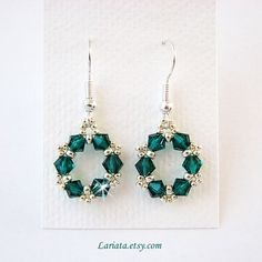 Image result for crystal earring pattern swarovski