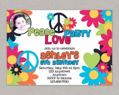 Hey, I found this really awesome Etsy listing at https://www.etsy.com/au/listing/178570308/peace-love-party-invitation-peace