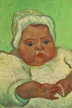 The Baby Marcelle Roulin  Oil on canvas  35.0 x 24.5 cm.  Arles: December, 1888
