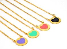 Heart Necklace Custom Best Friend Necklace For 4 4 Best por Jujuel