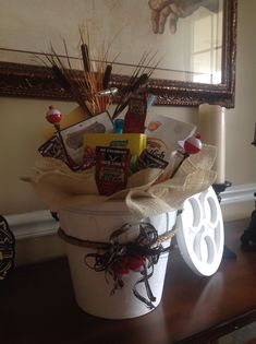 Fishing gift basket
