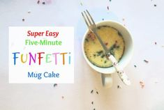 Super-easy 5 minute funfetti mug cake. Easy 5, Quick Easy Meals, Super Easy, Funfetti Mug Cake, Fig Cake, Batter Mix, Easy Homemade Gifts, Pecan Nuts, Frugal Family