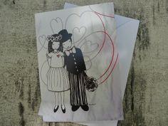 """Karte """"Hochzeit"""" by miminko via dawanda"""