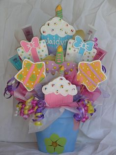 My 2nd Cookie Bouquet Ever!  February 2009 (look how far I've come!) by East Coast Cookies, via Flickr