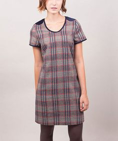 Take a look at this Blue & Gray Plaid Ursula Sheath Dress by Riverside on #zulily today! $59 !!