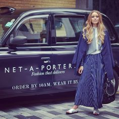 Have you spotted our #netaporter black cabs yet? Blogger kristina_bazan enjoyed a stylish turn around the city when she touched down. Don't forget London, if you order from #netaporter before 2pm, you can choose same-day delivery! #ordertodayweartonight
