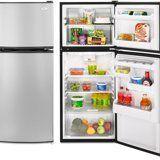 "6. Whirlpool Top-Freezer Refrigerator - $459 at AJ Madison. 10 cubic feet, 24"" wide, 60"" tall."