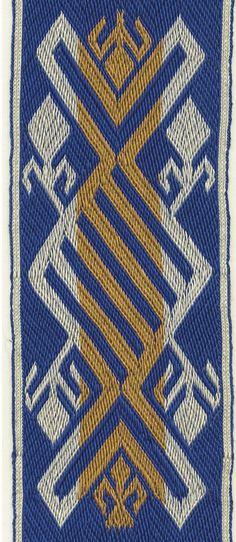A motif of the so-called Arlon bands. Tablet weaving by Marijke van Epen