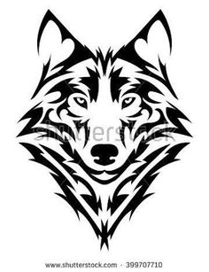 Resultado de imagen para tribal wolf tattoo