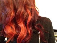 Red- orange hair. Natural Waves