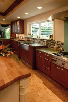 Cabinets dark wood cabinets and wood cabinet kitchen on for Beautiful kitchen floors