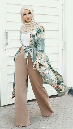 Style hijab outfit muslim 63 Ideas for 2019 Islamic Fashion, Muslim Fashion, Modest Fashion, Modest Wear, Modest Dresses, Hijab Outfit, Turban Outfit, Hijab Turban Style, Kimono Outfit