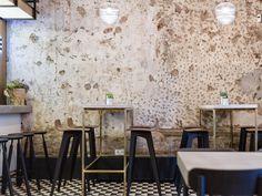 I like the bar tables and stools. Kaper Design; Restaurant & Hospitality Design Inspiration: February 2015
