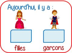 Counting practice: how many boys and girls in the classroom?Comptage des filles et des garçons French Teaching Resources, Teaching French, Classroom Organisation, Classroom Management, French Education, Core French, Numbers Preschool, French Classroom, French Teacher