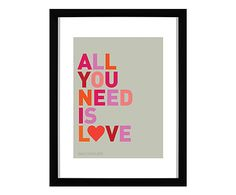 Quadro All You Need Is Love - 34x44cm