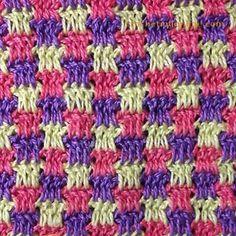 pontos de crochet mosaico