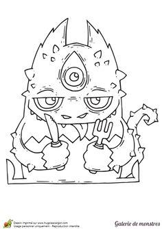 Coloriage des monstres du placard sur Hugolescargot.com