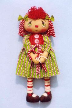 rag doll candy cane annie, pattern for sale