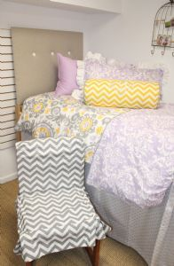 Oh I will definitely be making a chair cover and headboard cover!