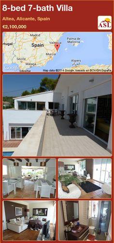 8-bed 7-bath Villa in Altea, Alicante, Spain ►€2,100,000 #PropertyForSaleInSpain