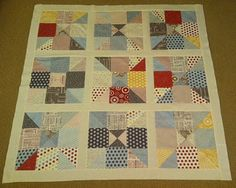 Home Sweet Home Quilt Tutorial - Quilting In The Rain 9-patch diagonal 4 way slice and rearrange.