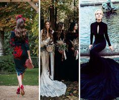 Una boda terroríficamente romántica - La novia indie Tweed, Estilo Indie, India, Color Negra, Dresses With Sleeves, Long Sleeve, Fashion, White Gowns, Colorful Smoke