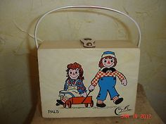 RARE, VINTAGE CHILD'S RAGGEDY ANN & ANDY PURSE.