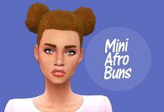 Sims 4   Mini Afro Buns #queendelirium natural hair hairstyle female adult