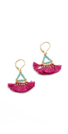 Shashi Lilu Magenta Earrings | SHOPBOP