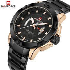 408117bc91a Homens Relógio de Luxo Da Marca NAVIFORCE Homem Esportes Relógios Militares  Data Relógio de Quartzo Moda dos homens Relógio de Pulso Relogio masculino -