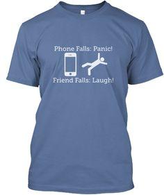 Funny Phone Falling Tee Shirt #iphone