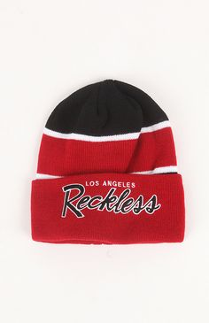 Young & Reckless  Squad Up Red Beanie