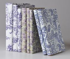 fabric covered books, ftw.