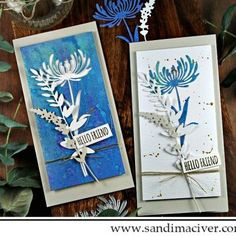 Sandi MacIver - Papercraft artist shares two cards created with the Tim Holtz Wildflower Stems for the Simon Says Stamp Wednesday Challenge Tim Holtz Dies, Tim Holtz Stamps, Create Your Own Background, Interactive Cards, Card Tutorials, Winter Cards, Simon Says Stamp, Ink Pads, Card Kit