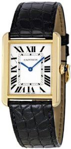 Women's W5200004 Tank Solo 18kt Yellow Gold Case Watch from Cartier at the LuxuryTickers.com