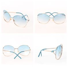 Gucci Oversized aviators. Style  GG 2846 S Gold Azure YD2-T3. Excellent  condition. Includes original box   cleansing cloth. Retail   330 +tax  Glamdrobe s ... 9b3f9857ed