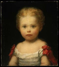"""Portrait of Morris Hunt,"" c1857, by his father,William Morris Hunt (1824-1879,American)"