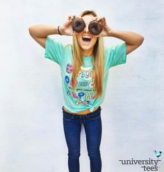 Donut you wish you were an Alpha Chi? | Alpha Chi Omega | Made by University Tees | www.universitytees.com