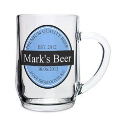 Personalised Beer Label Tankard 4255D Personalised Beer Label TankardFor anybody who loves beer, this funky classical design is a great gift for a birthday celebration.Personalise this half pint glass with any occasion up to 20 characters http://www.MightGet.com/january-2017-13/personalised-beer-label-tankard-4255d.asp