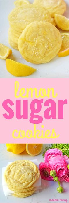Lemon Sugar Cookies. Sweet and tangy lemonade in a cookie. These soft lemon cookies are one of the most popular cookie recipes. www.modernhoney.com