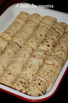 Crêpes Jambon fromage et champignons, meilleures qu'à la cantine – A table les copains