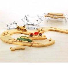 3D Race Track Cookie Cutters Stainless Steel set of 4