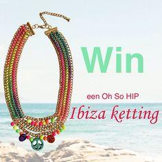 Yiehaaa, de zomer komt er aan! Om dit te vieren verloten wij onder onze Facebook fans een Oh So HIPPE Ibiza statement ketting.  Ga naar onze Facebook pagina en doe mee: http://www.facebook.com/ohsohipnl Maandag 24 juni maken wij de winnaar bekend. Good luck!